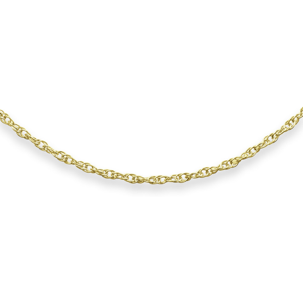 16'' Lady's Mini-Rope chain - 10K yellow Gold