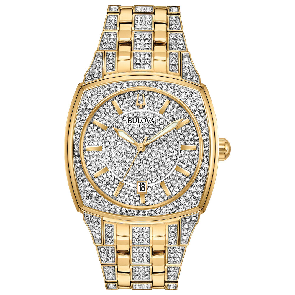 Phantom Gold Crystals Stainless Steel Watch