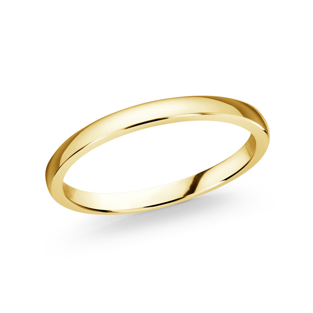 Jonc pour femme - Or  jaune 10K, 2mm