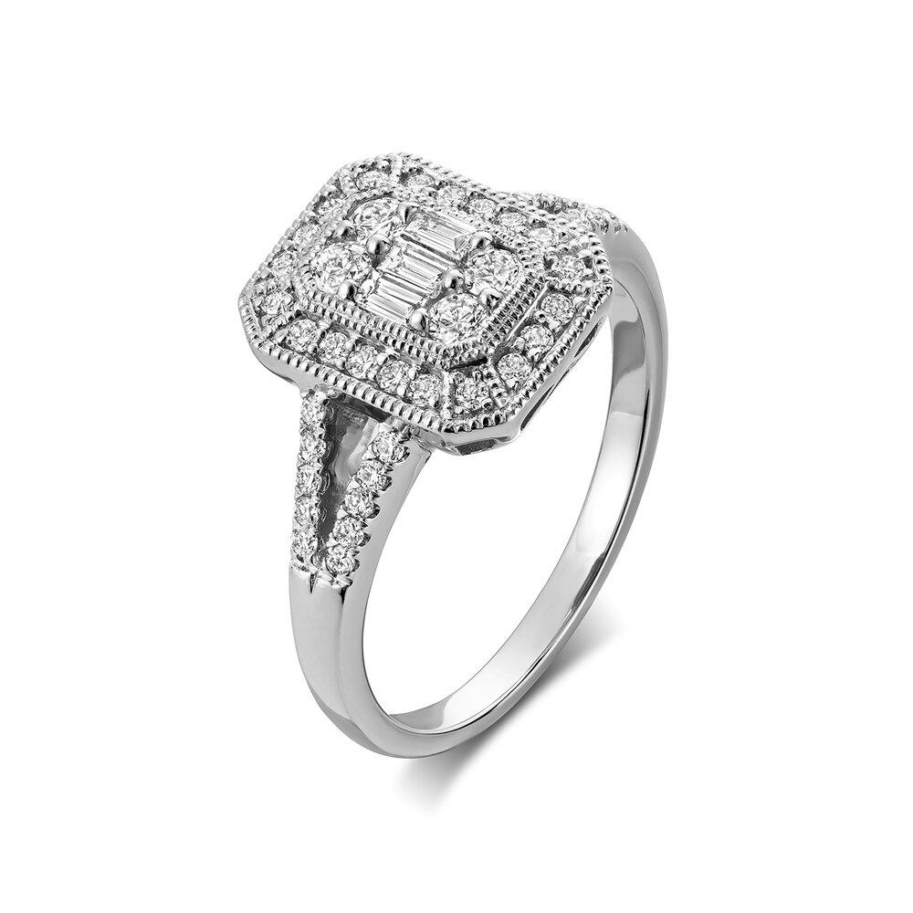 Bague pour femme - Or blanc 14K & Diamants totalisant 50 points