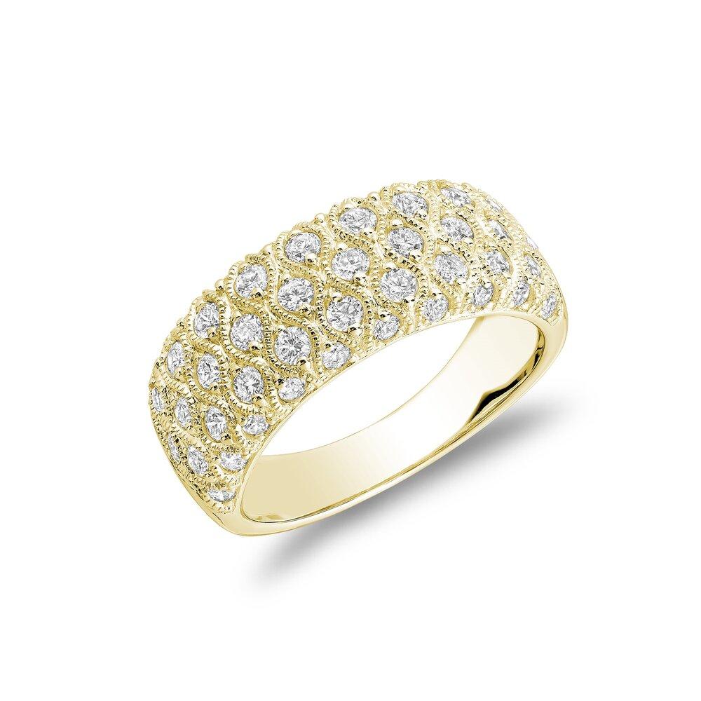 Bague pour femme - Or Jaune 14K & Diamants totalisant 1.00 carat