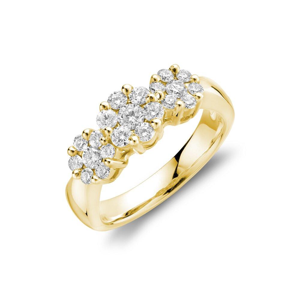 Bague pour femme - Or Jaune 14K & Diamants totalisant 0.72 carat