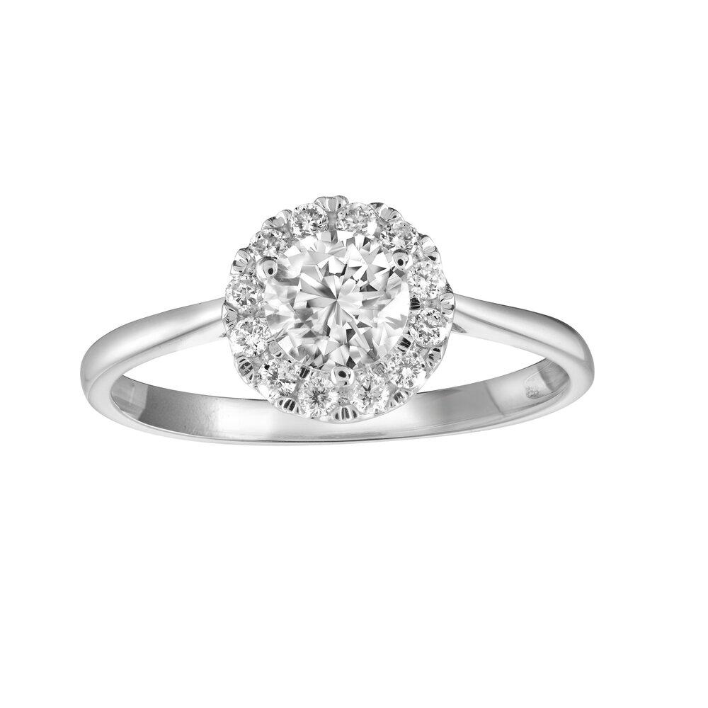 14K White Gold & Diamond Ladies Ring totaling 0.5 carat