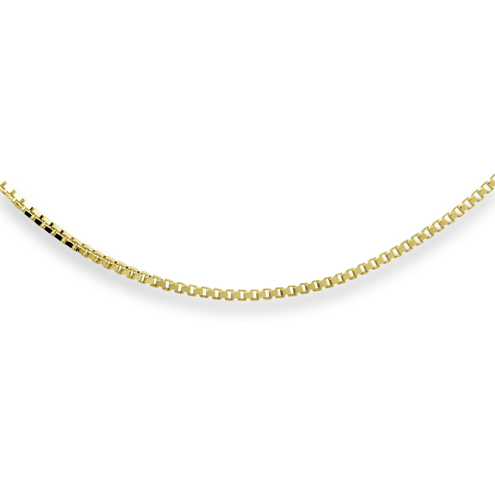 Woman's Box Chain 20'' -  10K Yellow Gold