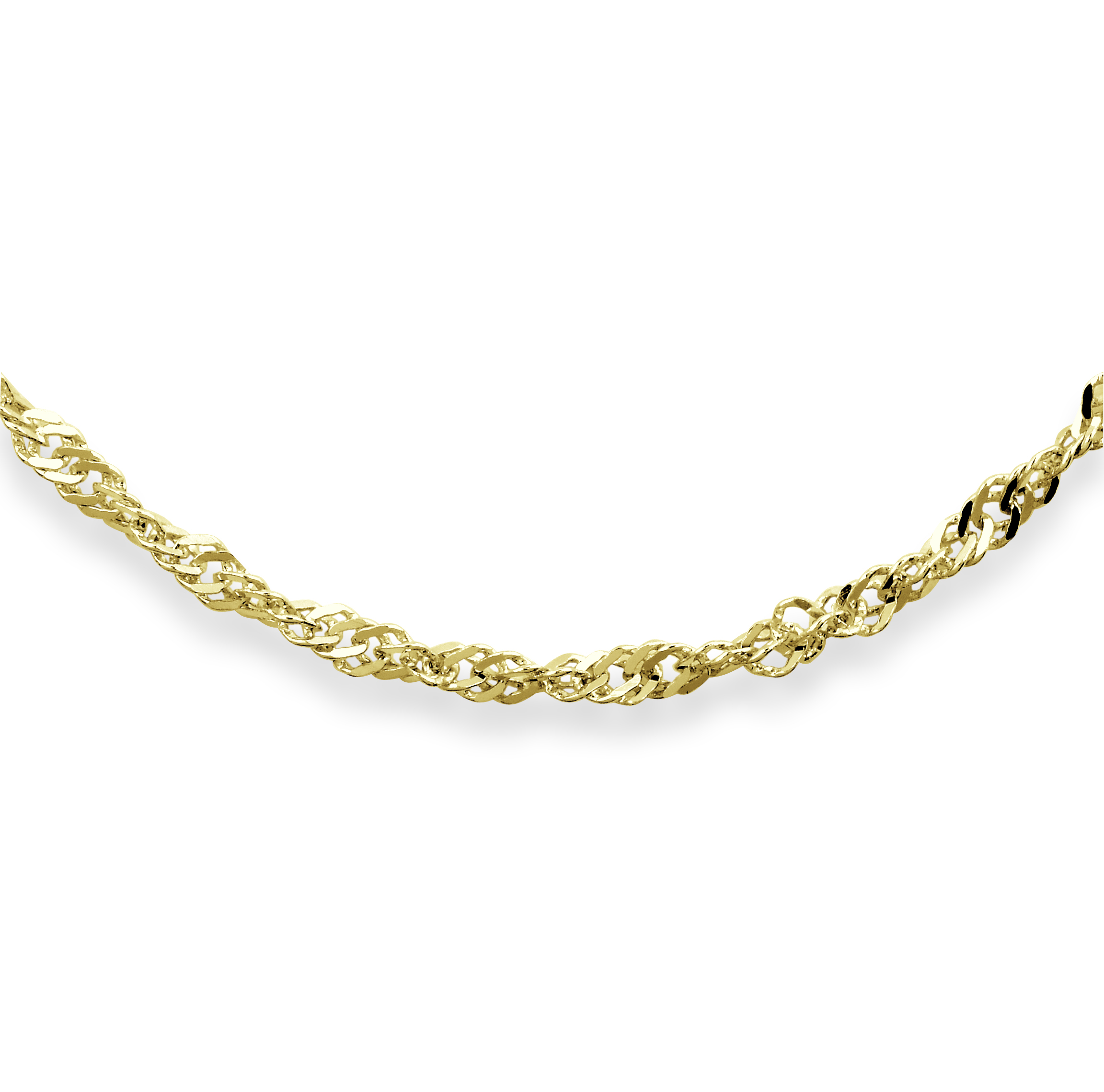 7'' Singapore Chain-bracelet for women - 10K yellow Gold