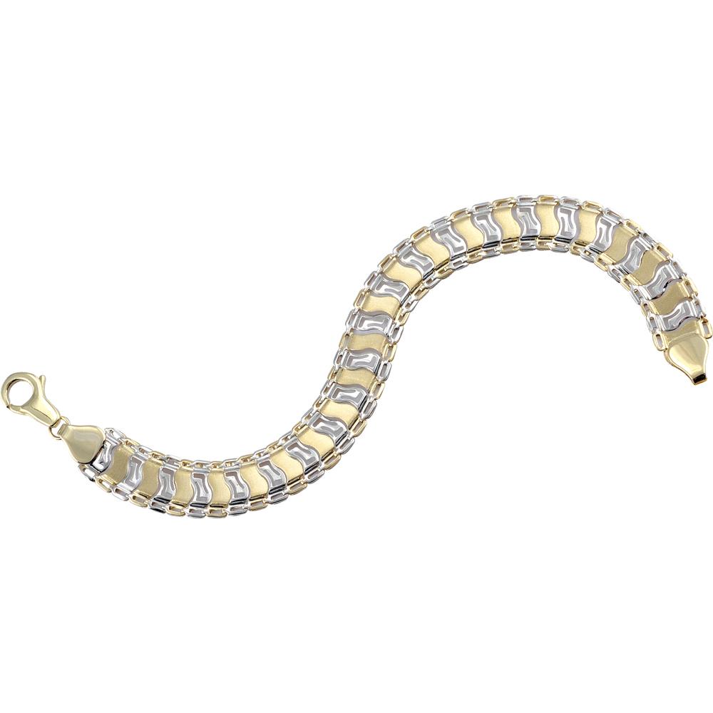 Bracelet de fantaisie 7.5''  pour femme - Or 2 tons 10K