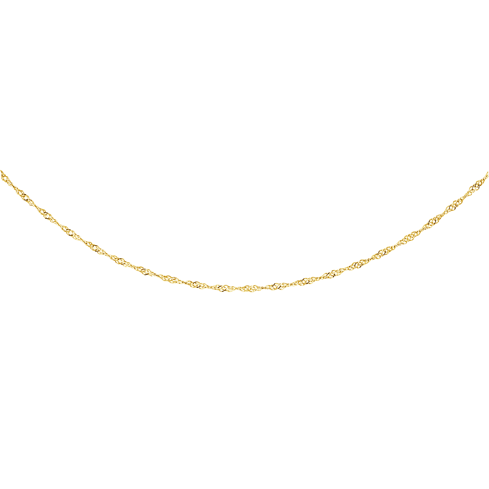 20'' Singapore chain for women - 10K yellow gold