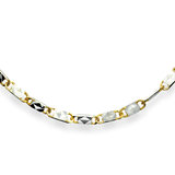 10'' Valentino ankle chain for women - 10K 2-tone gold (yellow and white)
