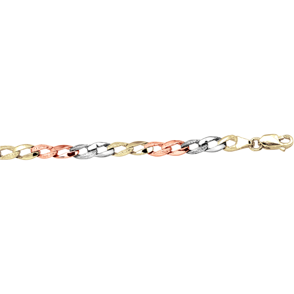 Bracelet - 10K 3 tone gold (yellow, white and pink)