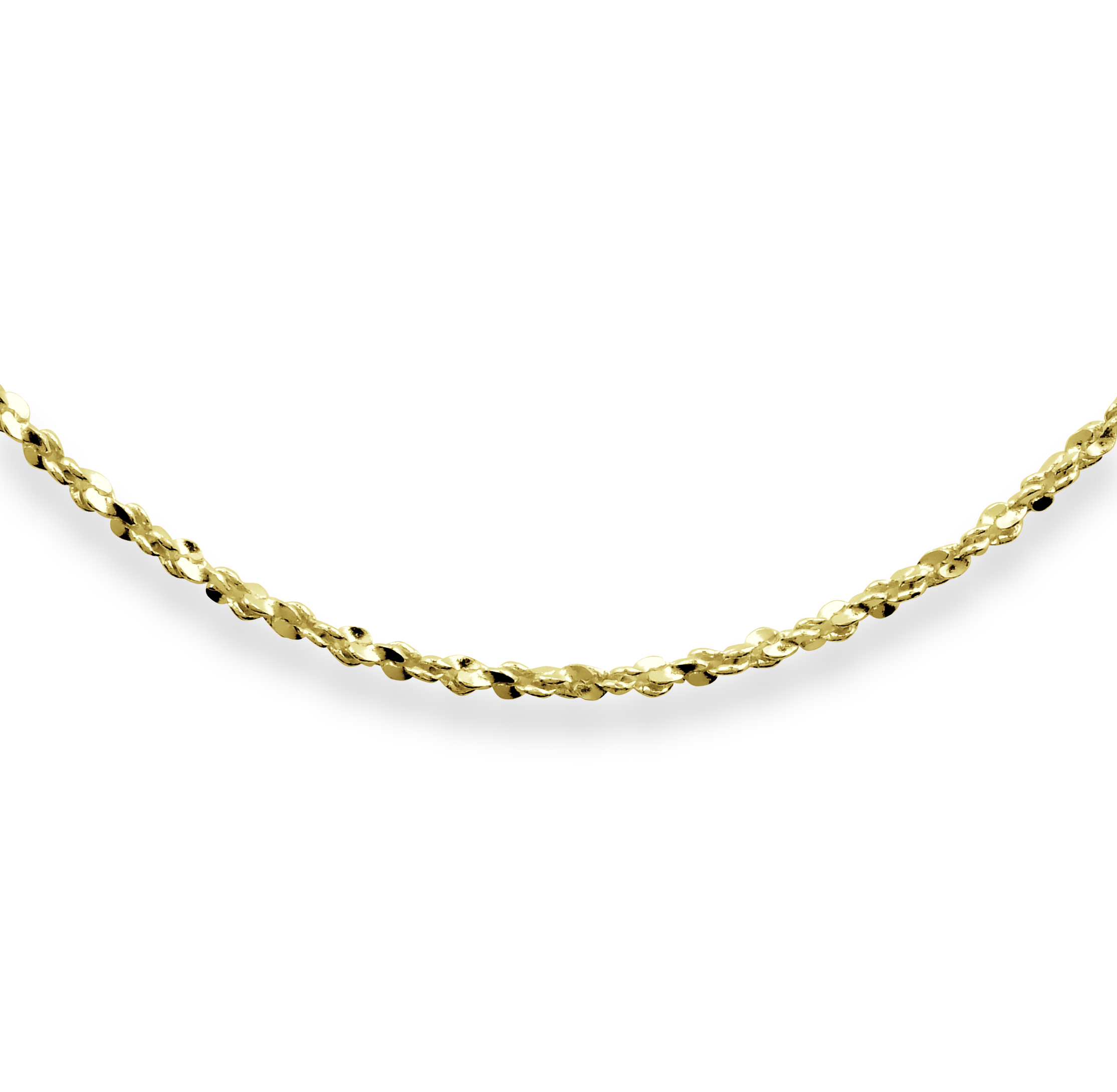 24'' Serpentine Twist Chain for Ladies - 10K yellow Gold