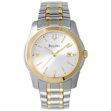 Men's Bulova Watch - Brushed and polished two tone stainless steel