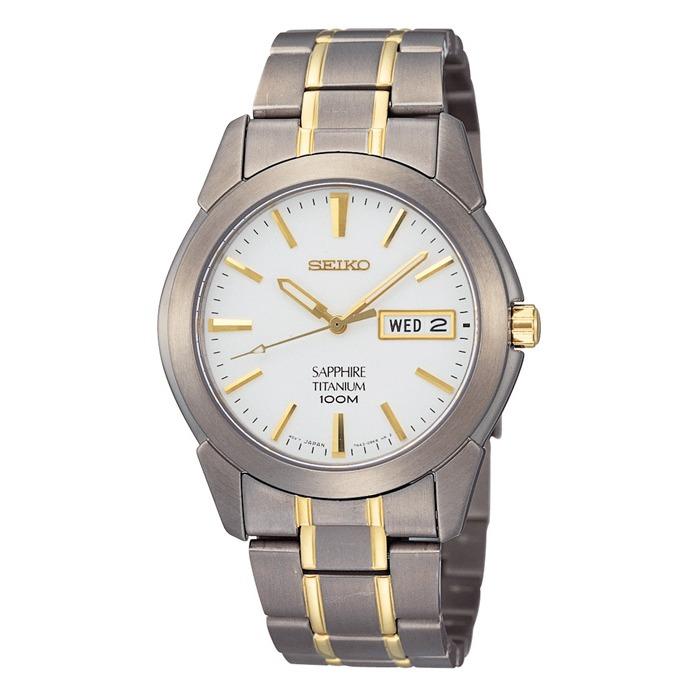 Men's Seiko classic watch - Titanium